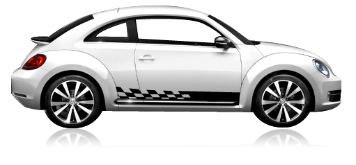 VW GTi 2006-2009 Checkered Flag