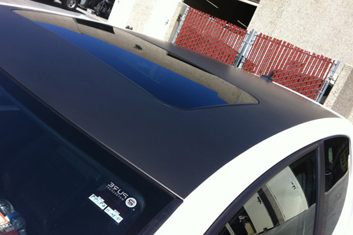 Volkswagen GTi Black Hood and Roof Wrap